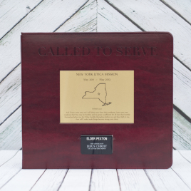 Called to Serve™ Missionary Memory Book – Cranberry